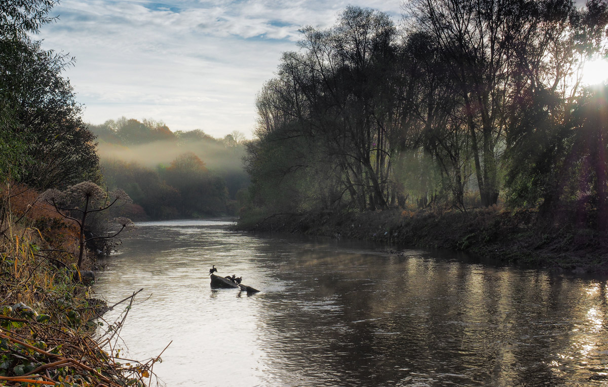 The natural course of the River Irwell