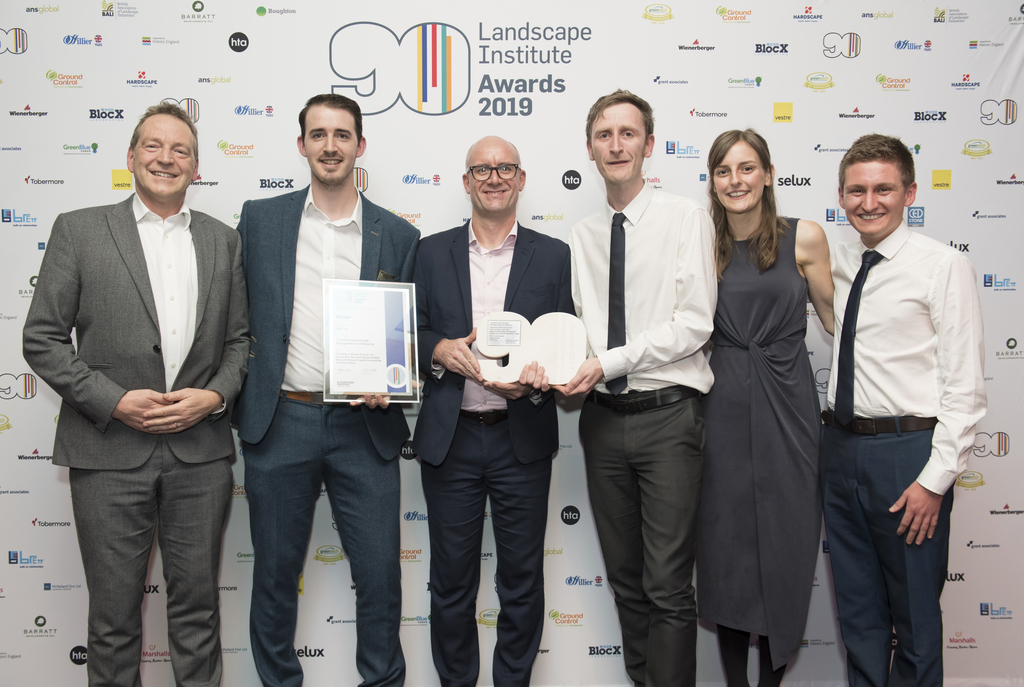 Natural Course celebrates winning top award at the Landscape Institute Awards ceremony
