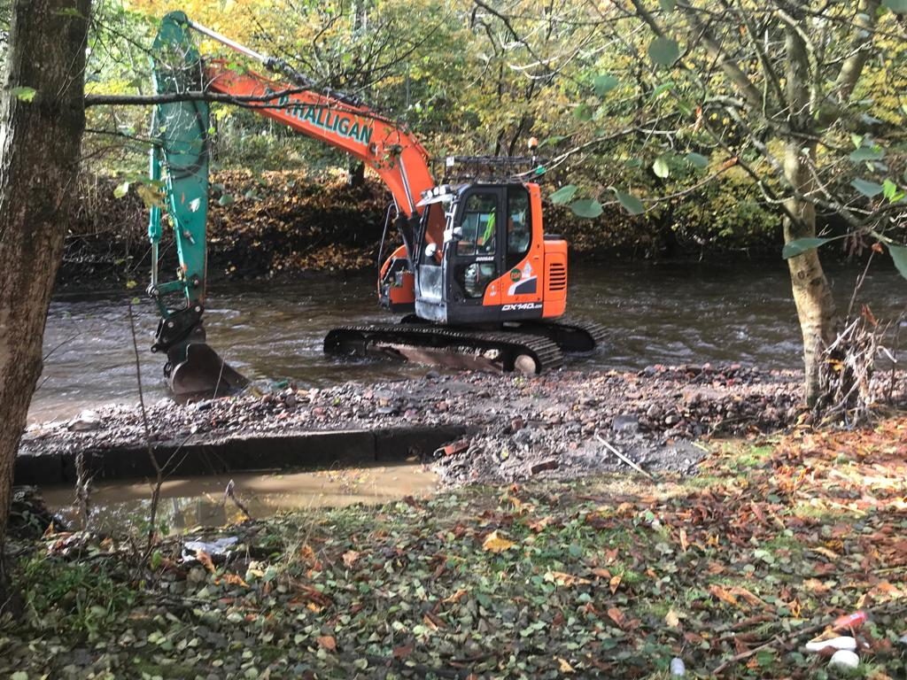 Fish can swim freely in another section of the Croal catchment thanks to weir removal